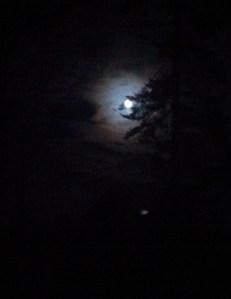 Moon over Midcoast Maine